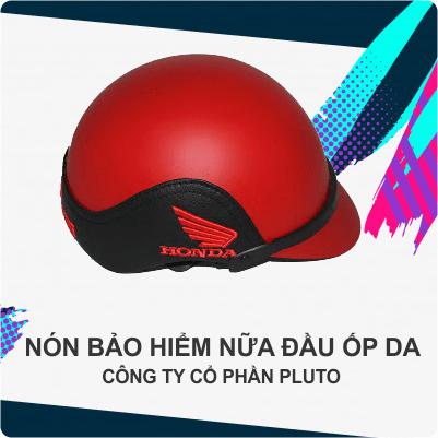 Mũ bảo hiểm quảng cáo nữa đầu - Ốp da - PlutoMũ bảo hiểm quảng cáo nữa đầu - Ốp da - Pluto