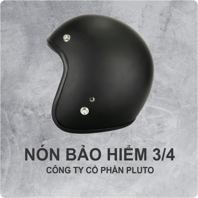 Nón bảo hiểm quảng cáo 3/4 - Pluto