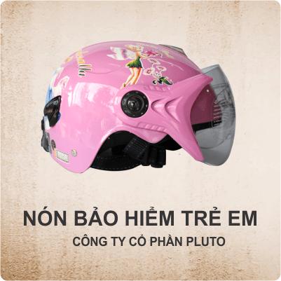 Nón bảo hiểm quảng cáo trẻ em - Pluto