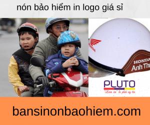 Mũ bảo hiểm in logo - Pluto