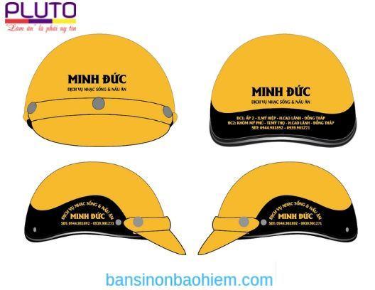 In logo mũ bảo hiểm theo yêu cầu