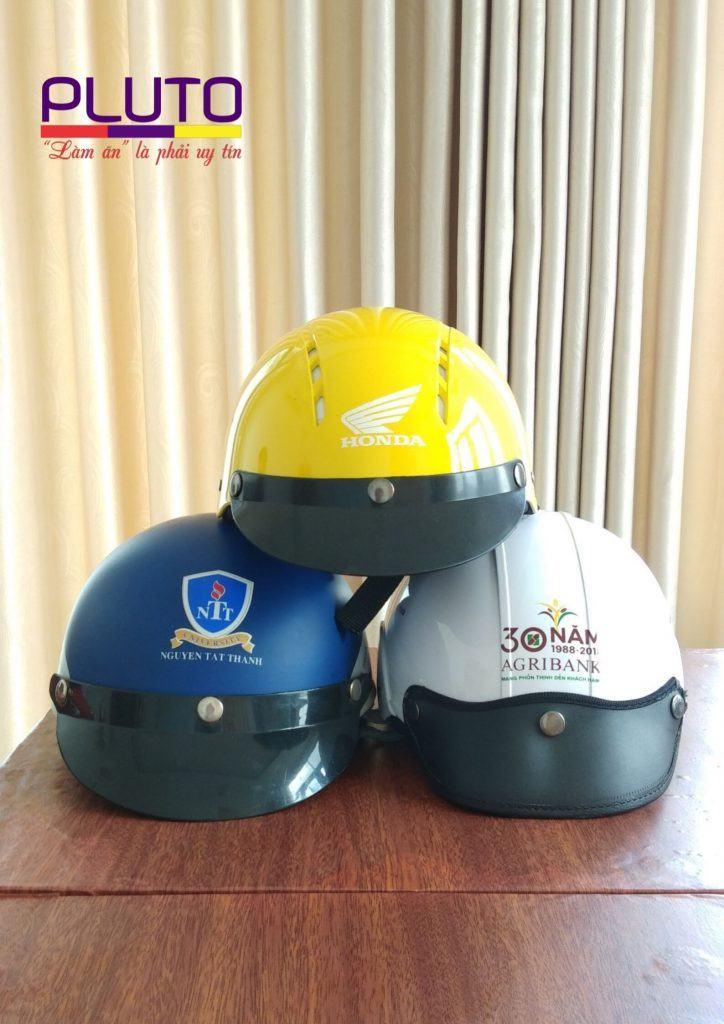 làm mũ bảo hiểm in logo