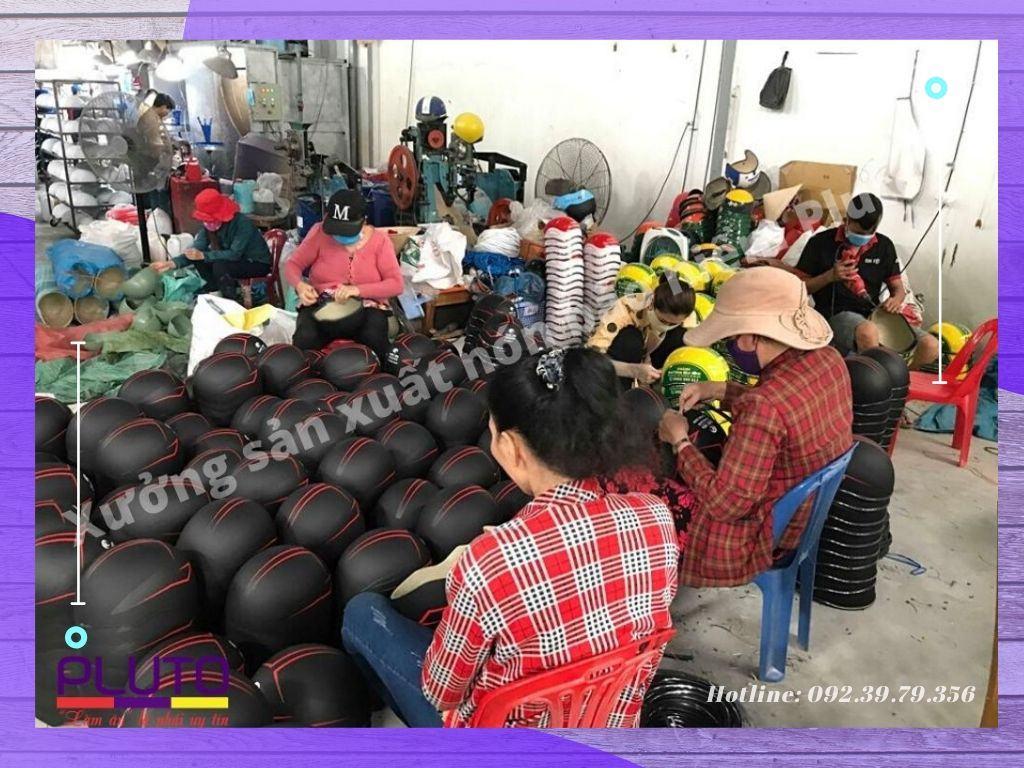nón bảo hiểm | xưởng sản xuất nón in logo theo yêu cầu