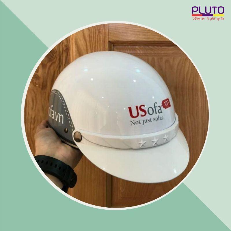 Xưởng sản xuất mũ bảo hiểm in logo quảng cáo chất lượng