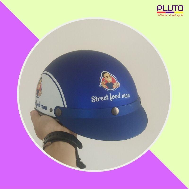 mũ bảo hiểm quảng cáo in logo uy tín