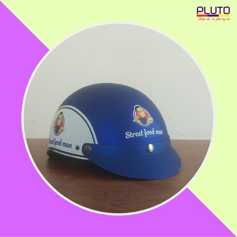 Xưởng sản xuất mũ bảo hiểm in logo quảng cáo