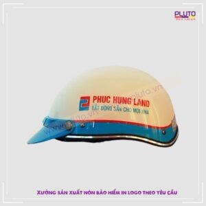 Mũ bảo hiểm quà tặng khách hàng công ty xây dựng Phúc Hưng Land