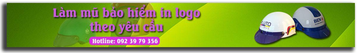 Nón bảo hiểm quảng cáo in logo