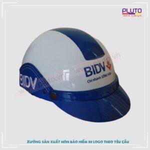 Mũ bảo hiểm nữa đầu ốp da - Ngân hàng BIDV